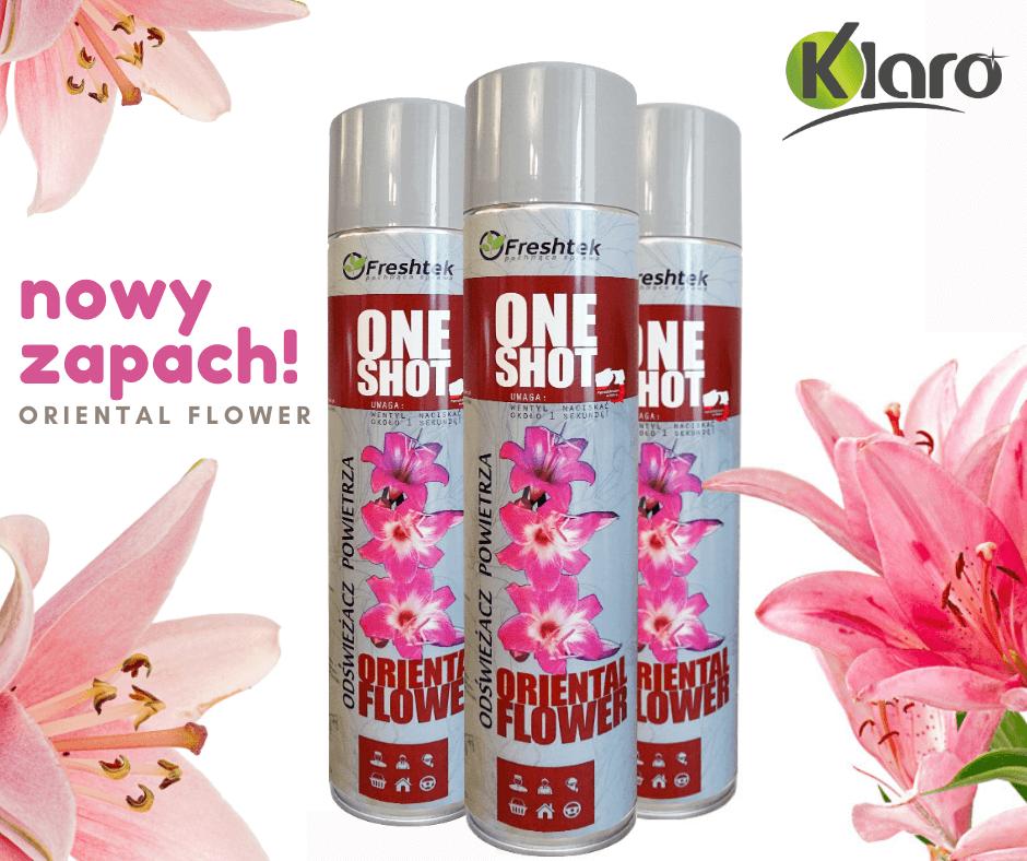 Nowy zapach! Oriental Flower, One Shot - w ofercie firmy Klaro.
